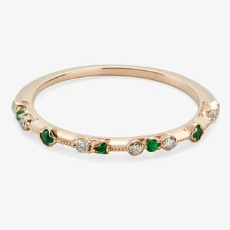 Kataoka Dotted Band Ring Diamonds, Emeralds, Gold