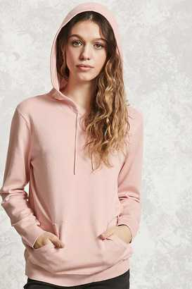 FOREVER 21+ Sweater Knit Hoodie $17.90 thestylecure.com