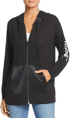 Kenneth Cole Mixed Media Tunic Hoodie