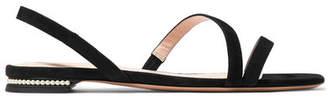 Nicholas Kirkwood Casati Embellished Suede Slingback Sandals - Black