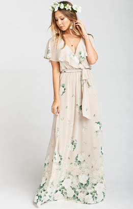 Show Me Your Mumu Audrey Maxi Dress ~ Bouquet Toss Chiffon