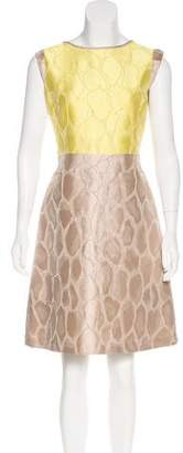 Lafayette 148 Textured Knee-Length Dress
