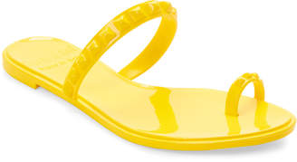 Carmen Sol Yellow Studded Jelly Sandals