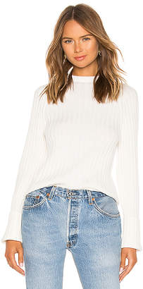 Vince Button Cuff Mock Neck Sweater