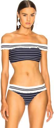 Jonathan Simkhai Off Shoulder Bikini Top