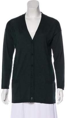 Valentino Long Sleeve Wool Cardigan