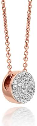 Monica Vinader 'Ava' Diamond Button Pendant Necklace