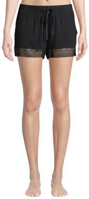 Fleurt Fleur't Cityscape Lace-Trim Shorts
