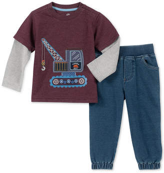 Kids Headquarters Baby Boys 2-Pc. Layered-Look T-Shirt & Jeans Set
