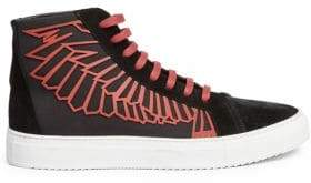 Marcelo Burlon County of Milan Coralie Wings High-Top Leather Sneakers