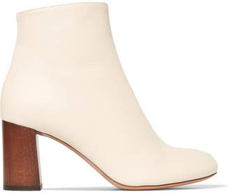Chloé Harper Palmer Textured-leather Ankle Boots - Cream