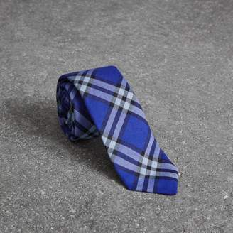 Burberry Slim Cut Check Cotton Tie