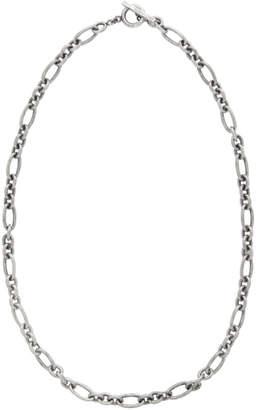 Saint Laurent Silver Marine Chain Necklace