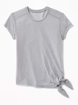 Old Navy Relaxed Side-Tie Mesh-Back Top for Girls