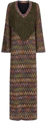 Missoni Fringed V-Neck Zig Zag Dress