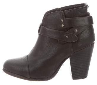 Rag & Bone Leather Semi Pointed-Toe Boots