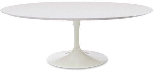 Knoll saarinen coffee table - white laminate