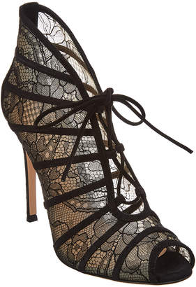 Gianvito Rossi Fresia High Lace-Up Suede Bootie