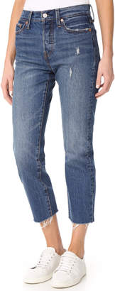 Levi's Wedgie Straight Jeans $98 thestylecure.com