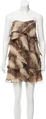 Haute Hippie Animal Print Silk Dress