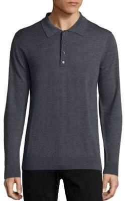 Long Sleeve Merino Wool Polo