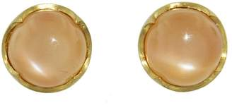 Cathy Waterman Peach Moonstone Cabochon Studs
