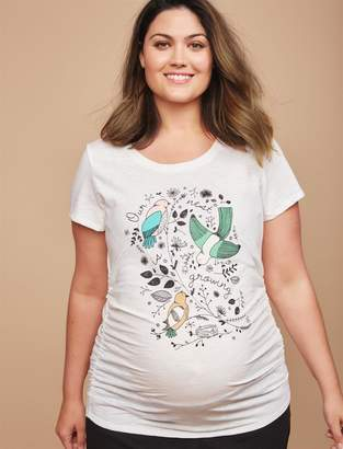 Motherhood Maternity Plus Size Our Nest is Growing Maternity Tee