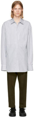 Ann Demeulemeester White and Black Striped Shirt