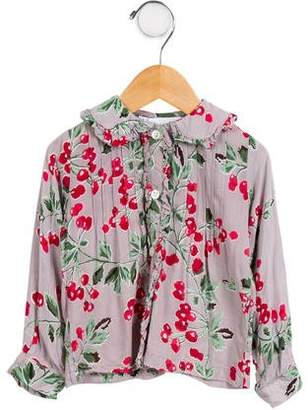 Rachel Riley Girls' Printed Button-Up Top