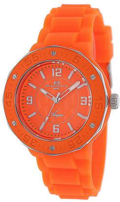 Oceanaut Acqua Womens Orange Rubber Bracelet Watch
