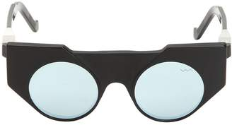 Matte & Shiny Acetate Cat Eye Sunglasses
