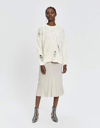 Ophelia Stelen Cable Knit Sweater in Ivory
