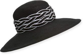 Kokin Deauville Gangster Fedora Hat w/ Braided Trim