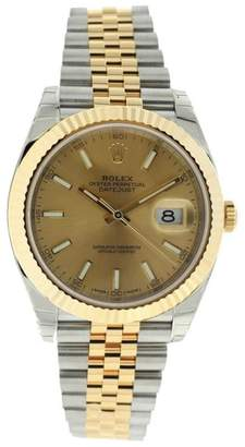 Rolex Datejust 126333 Champagne Dial Jubilee Two Tone Fluted Mens 41mm Watch