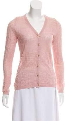 Salvatore Ferragamo Knit Button-Up Cardigan