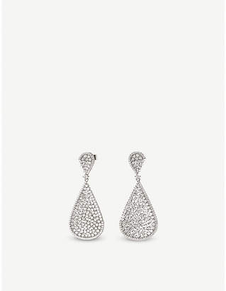 Folli Follie Sparkle Chic sterling silver and zirconia teardrop earrings