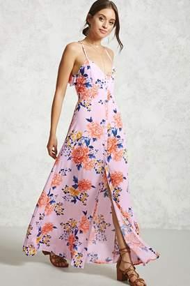 Forever 21 Floral Open-Back Maxi Dress