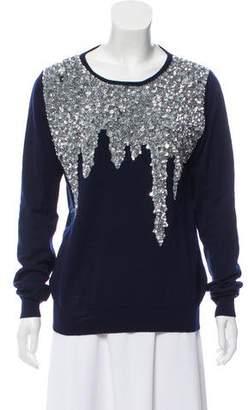 Oscar de la Renta 2018 Sequin-Embellished Sweater