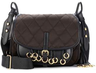 Prada Leather-trimmed quilted shoulder bag