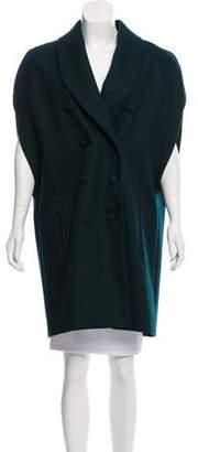 Bouchra Jarrar Wool Knee-Length Cape