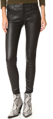 AG The Leather Legging Jeans $998 thestylecure.com