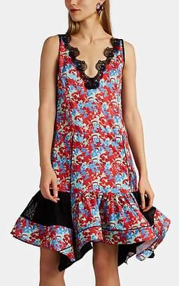 Koché Women's Lace-Trimmed Floral Dress
