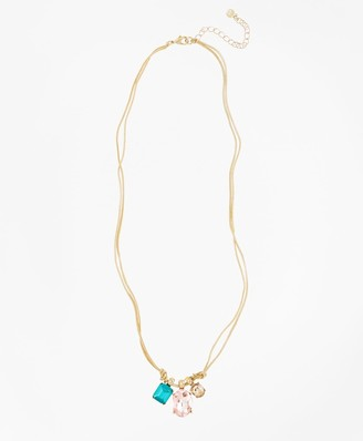 Brooks Brothers Multi-Crystal Drop Necklace