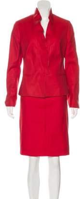 Valentino Wool & Silk-Blend Knee-Length Skirt Suit