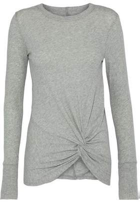 Enza Costa Twisted Cotton And Cashmere-blend Sweater
