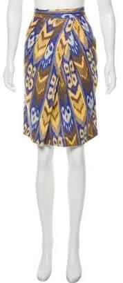 Tory Burch Linen Knee-Length Skirt
