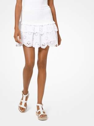 MICHAEL Michael Kors Eyelet Cotton Mini Skirt