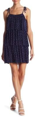 Romeo & Juliet Couture Dot Print Pleat Tiered Dress