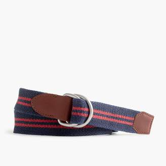 J.Crew Cotton belt in double stripe