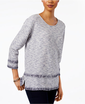 Style & Co Fringe Top, Only at Macy's $49.50 thestylecure.com